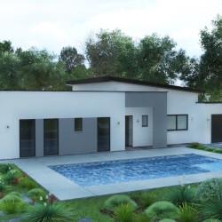 plan  modele contemporain maison et jardin crescendo _8