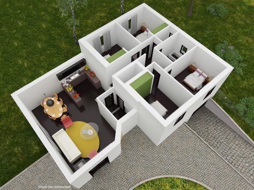 plan 3D solara RDC