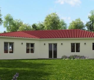 visual 3D maison en V