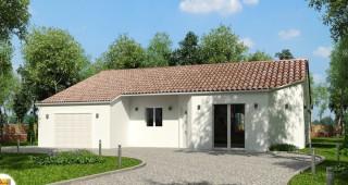Valeria maison avec decroché de toiture