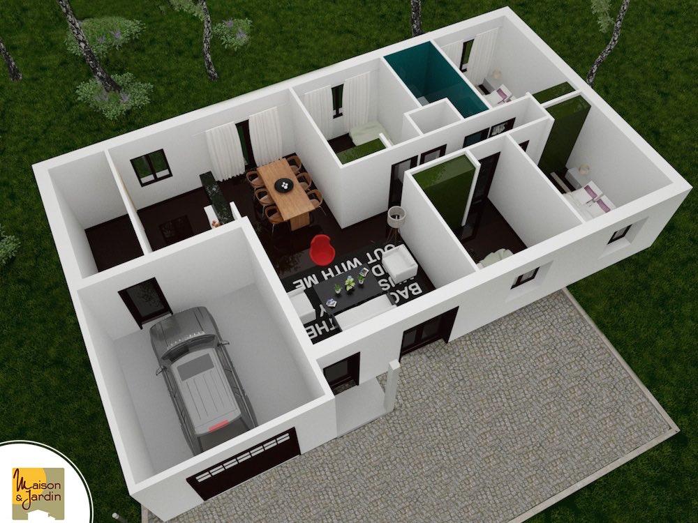 plan 3D maison Issoire