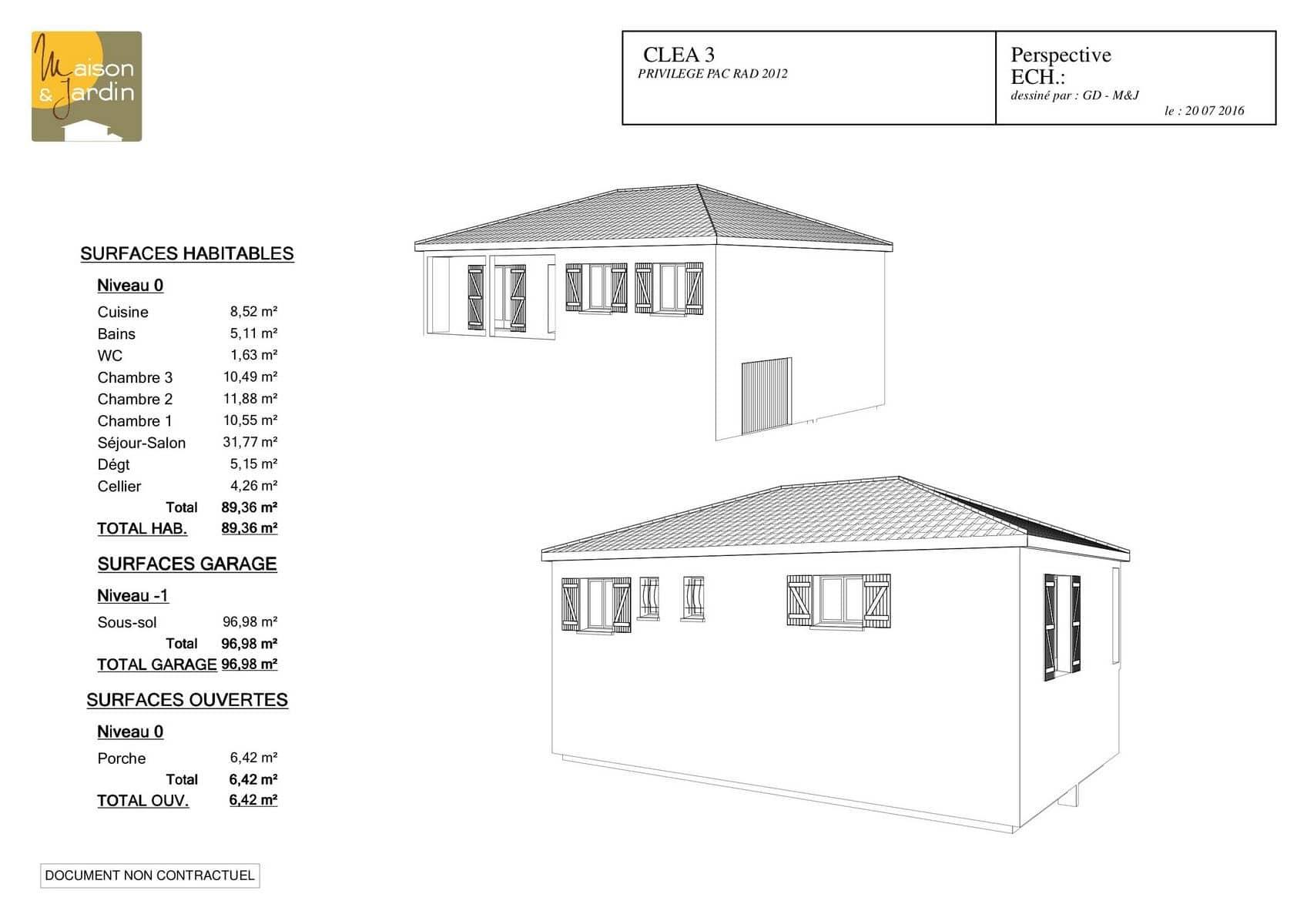 plan maison Clea99perspective