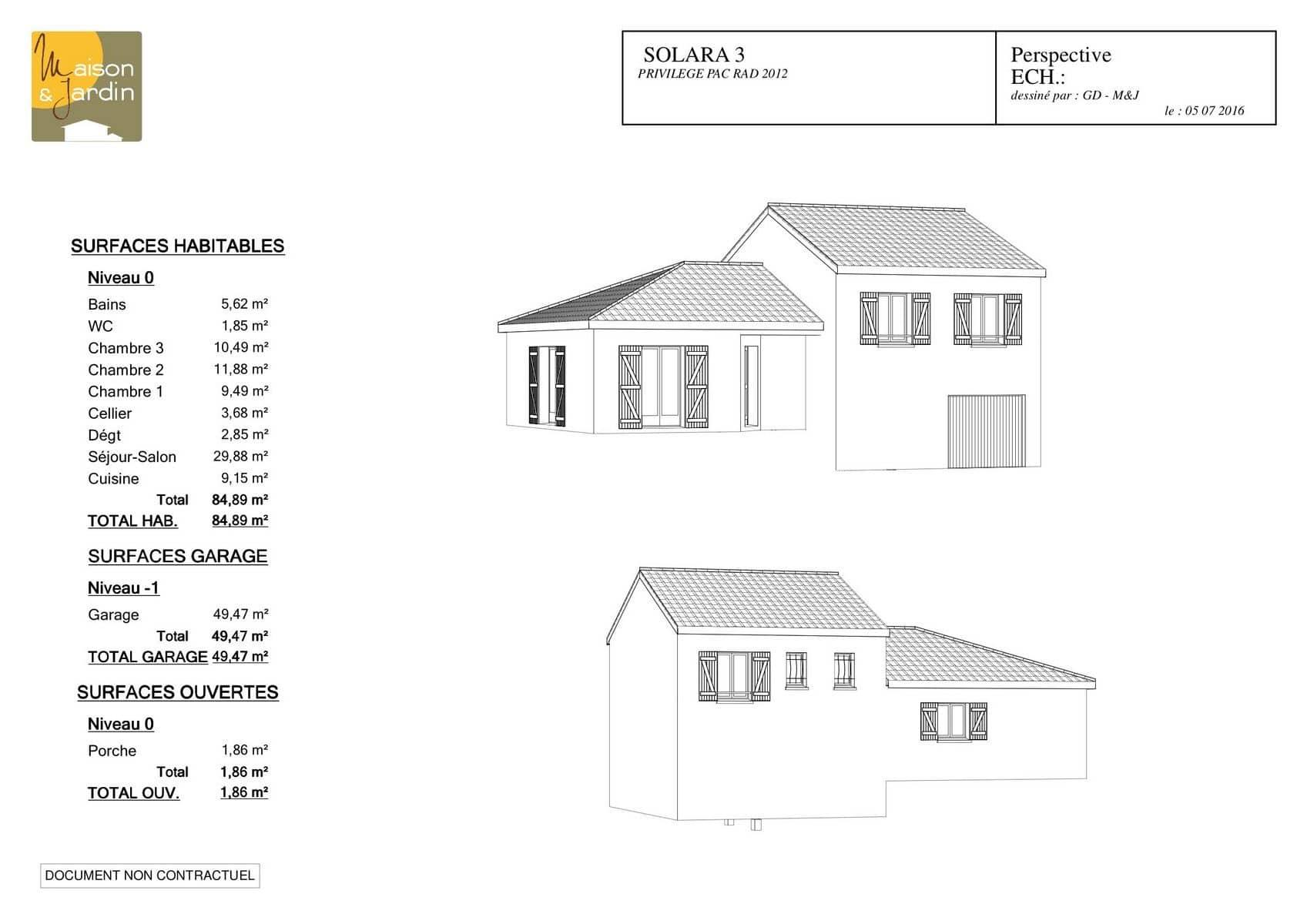 plan maison Solara85Perspective