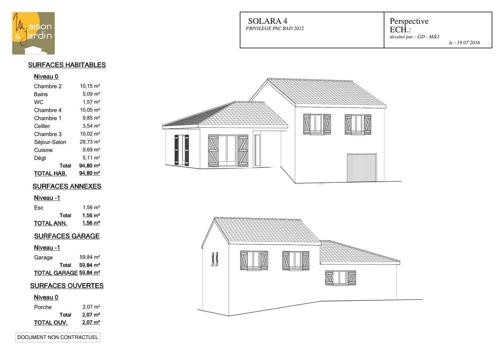 plan maison Solara95Perspective