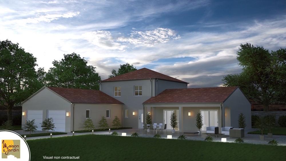 modele maison auvergne avec tour