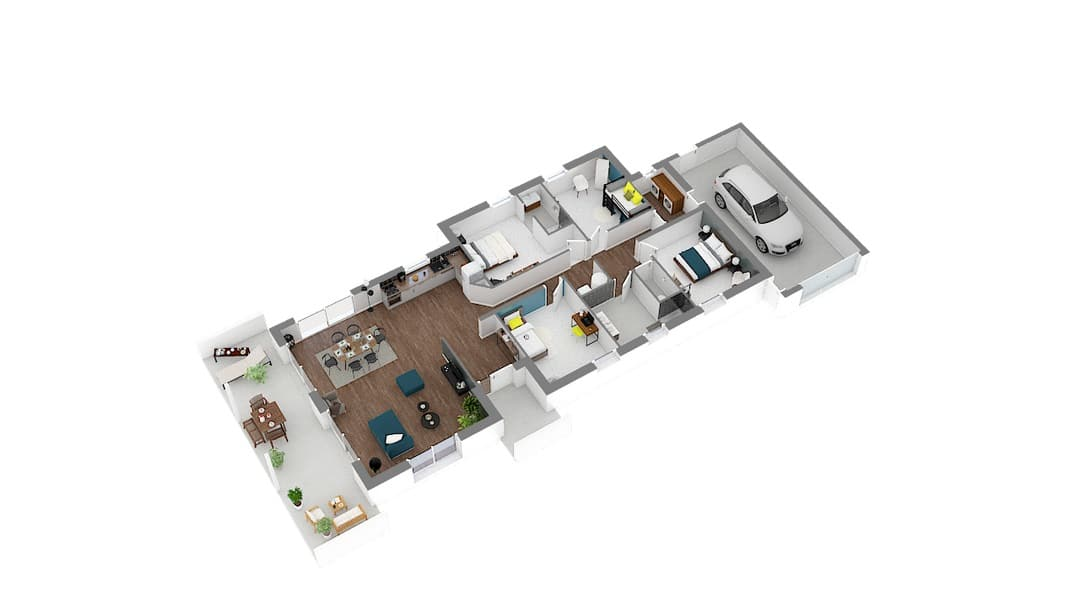 Lina maison moderne à toit plat (1)