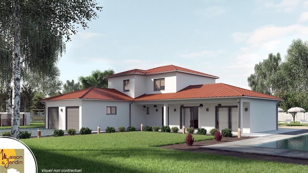 28 Plan Maison Plain Pied Avec Tour Centrale