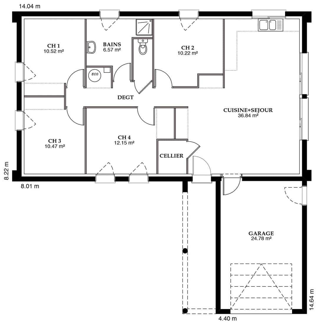 Plan Maison 125m2 Plan Maison Maison Maison A Etage 9