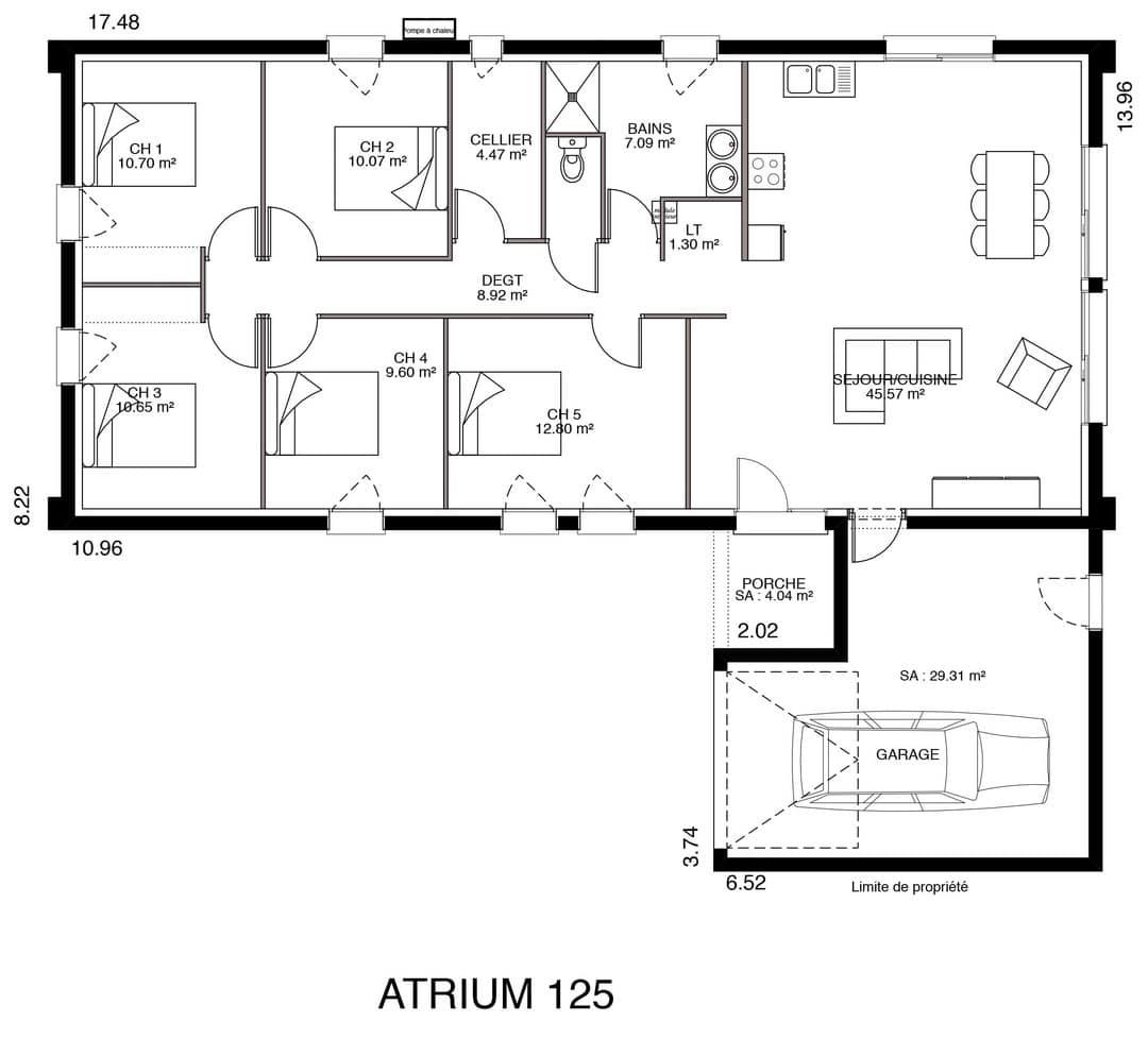 Modele De Maison Atlanta 100 A 125 M 3 4 3