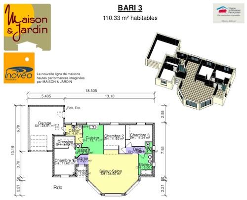 Plan maison bari 3