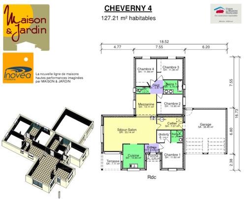 Plan maison cheverny 4