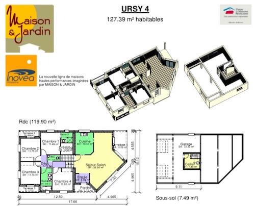 Ursy - Maison Contemporaine À Demi Niveau