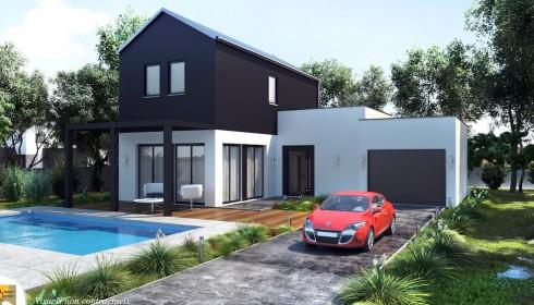 Modele de maison moderne plans de maison plan de maison for Modele maison contemporaine a etage