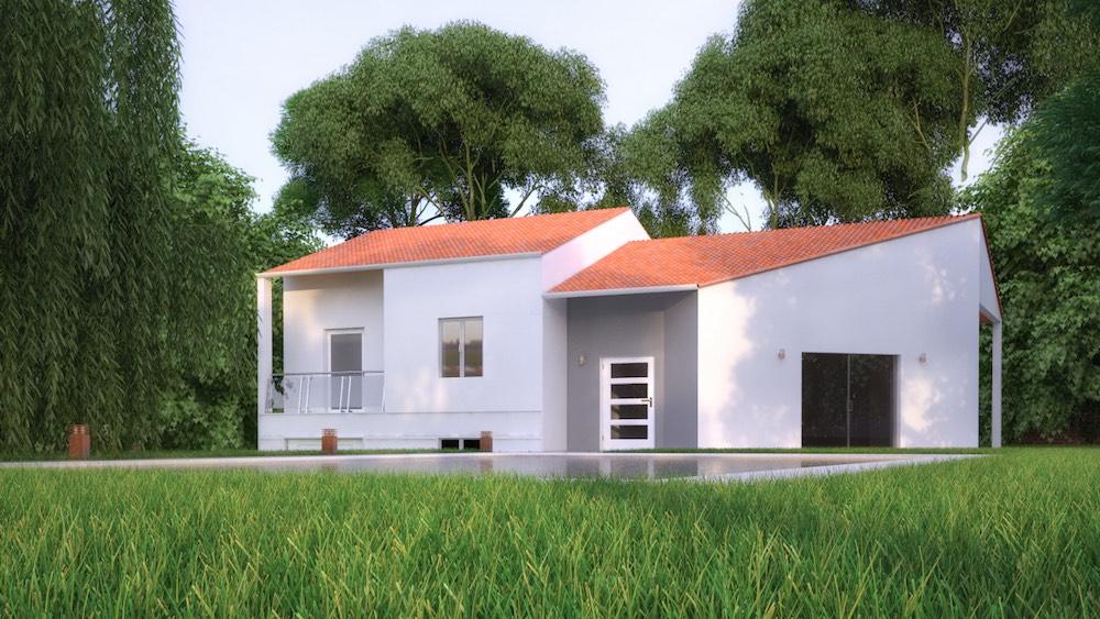 ursy maison contemporaine demi niveau. Black Bedroom Furniture Sets. Home Design Ideas