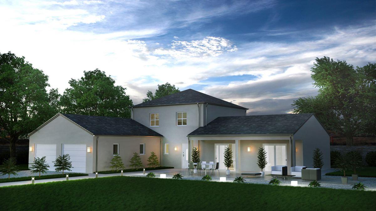 Maison Avec Tour Plan 10 Pieces 165 M2 Dessine Par Matica08