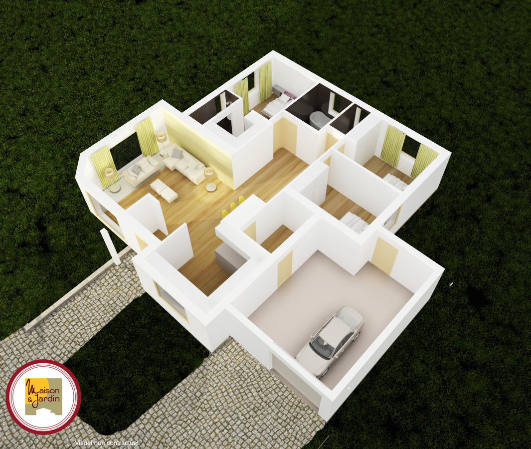 cheverny3 plan 3D