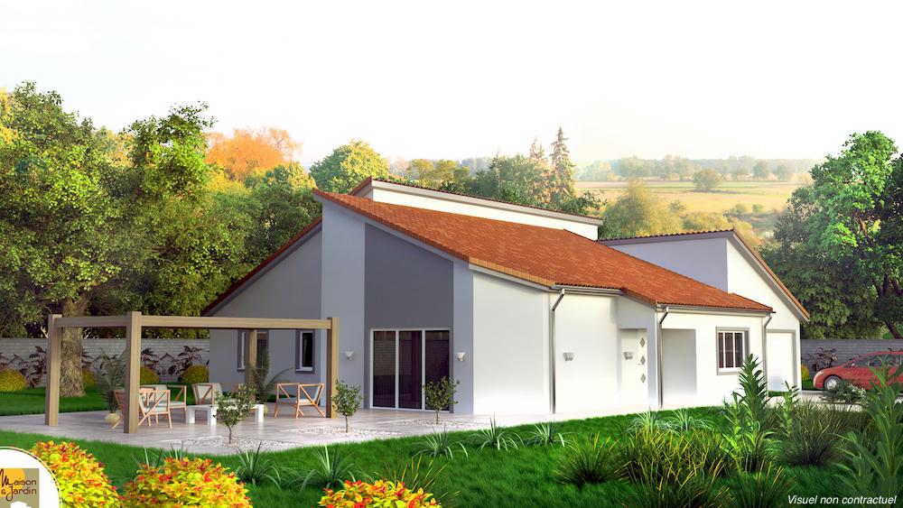 maison avec toiture double pan