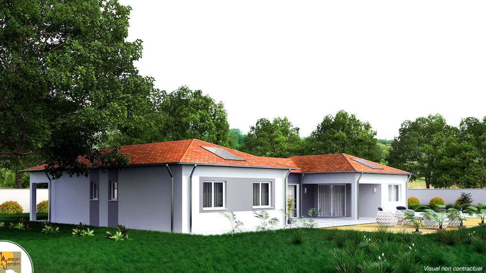 napoli maison avec plan en u. Black Bedroom Furniture Sets. Home Design Ideas