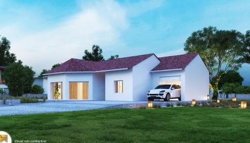 Maison traditionnelle plans et mod les for Maison avec bow window