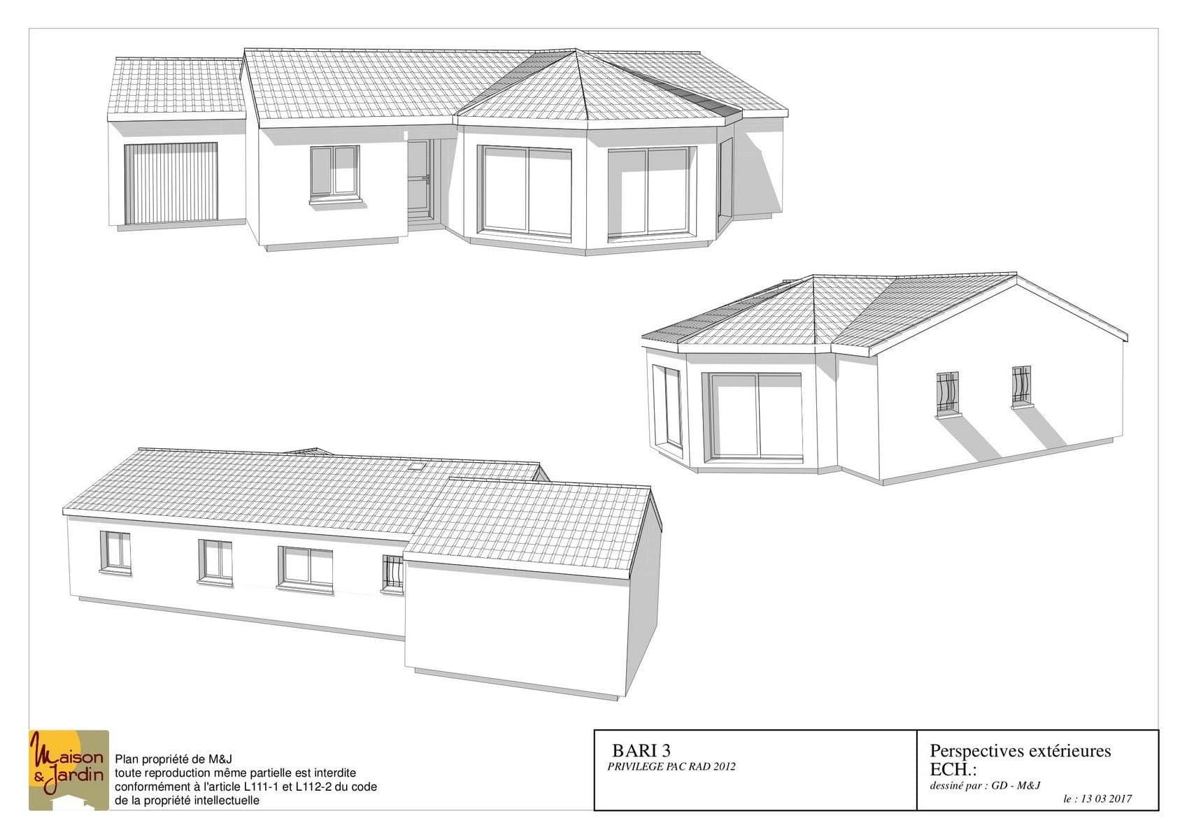 plan maison bari111perspective