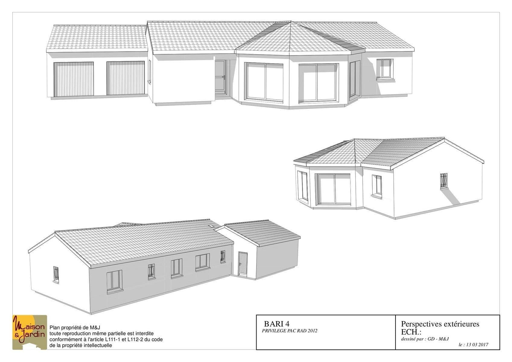 plan maison bari124perspective