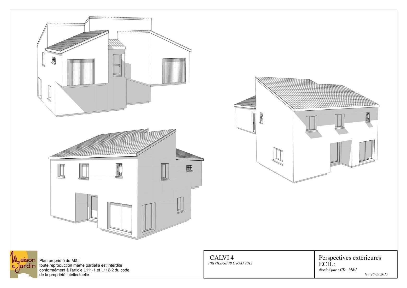 plan maison calvi130perspective