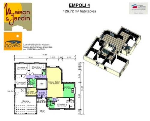 Empoli Maison Contemporaine Avec Un Patio Central Of Plan Maison