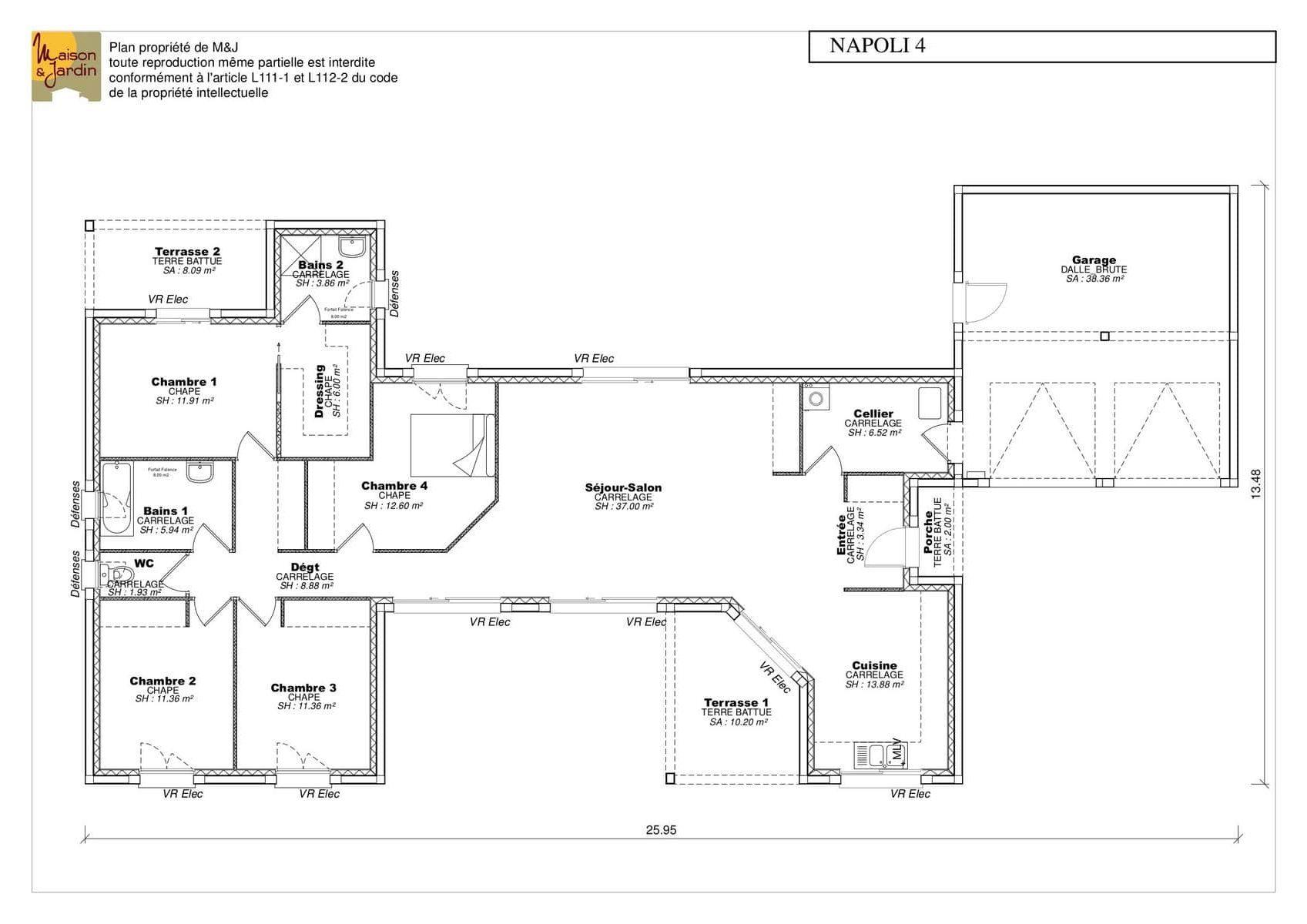 Maison En U Plan Maison Gratuit Maisons Clair Logis