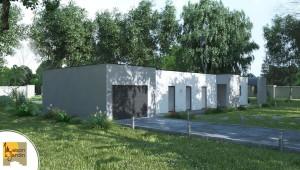 plan  modele contemporain maison et jardin lina _2