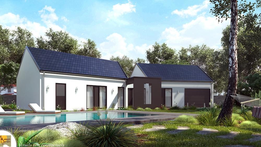 verso maison moderne en V