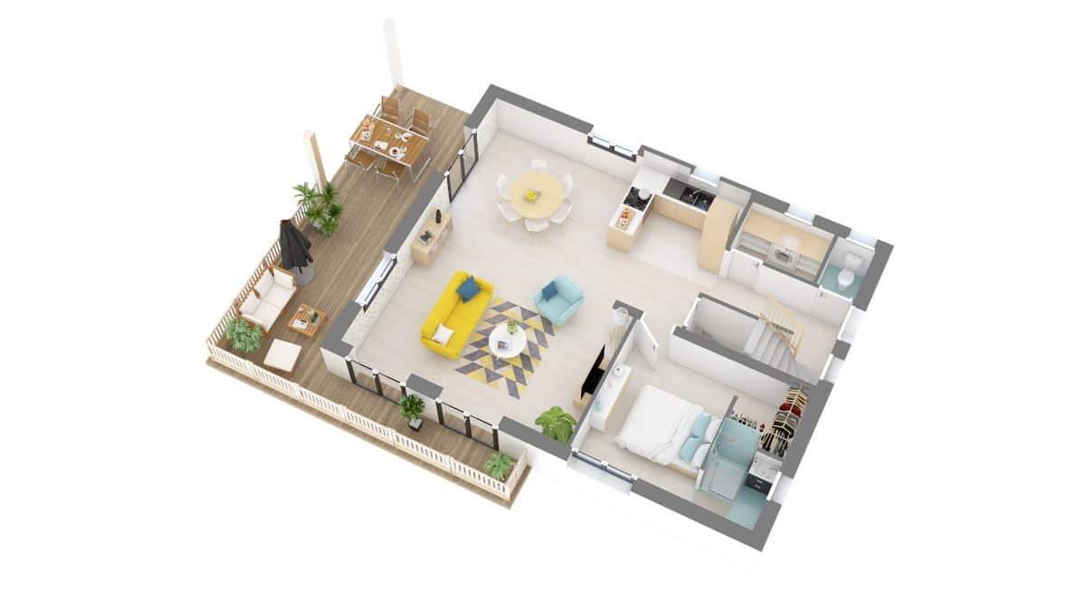 Maison et Jardin-Marina-g1-axo_rdc