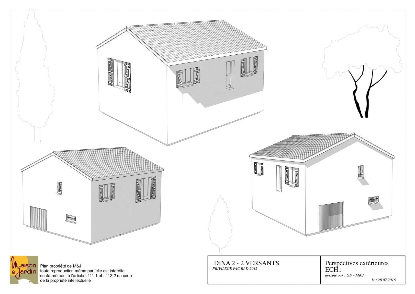 plan maison Dina78perspective