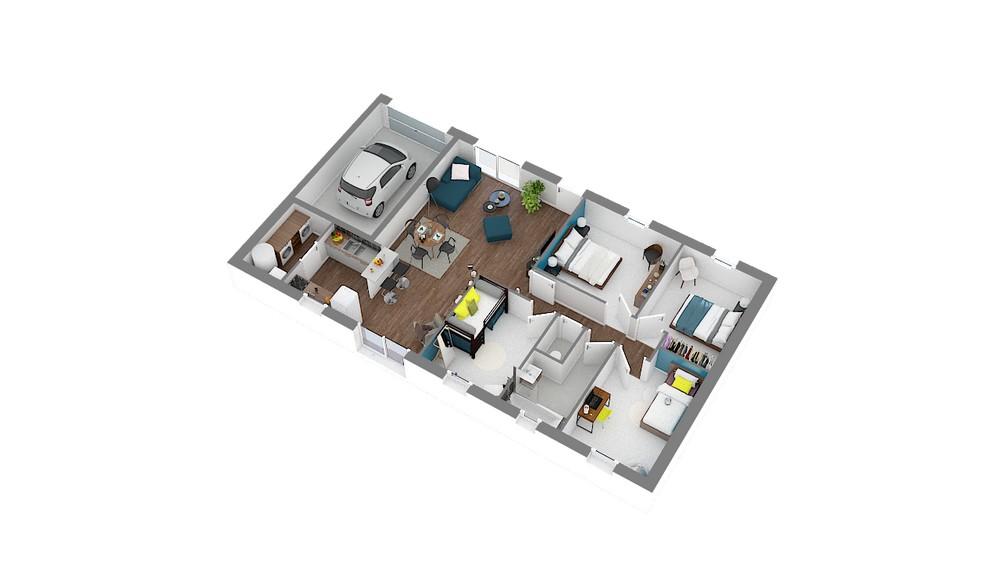 Plan_Maison et Jardin Modele low cost Focus_91
